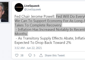 Powell: FED sẽ làm mọi thứ để có thể hỗ trợ nền kinh tế Mỹ phục hồi